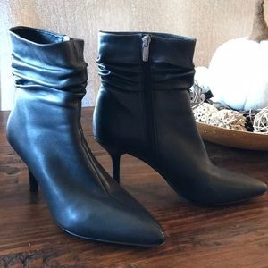 Vince Camuto Black Leather Ankle Boots